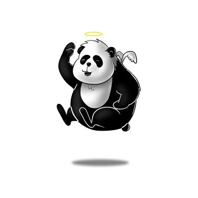Panda weiß kl